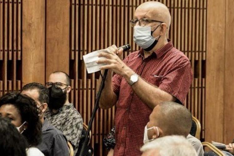 Periodistas oficiales en el encuentro con Miguel Díaz-Canel. (PRESIDENCIA DE CUBA)