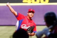 El lanzador cubano Bryan Chi, noveno abandono en el Mundial Sub-23. (WBSC)
