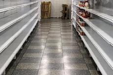 Estantes de supermercado vacíos