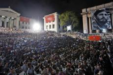 Un acto político en la Universidad de La Habana