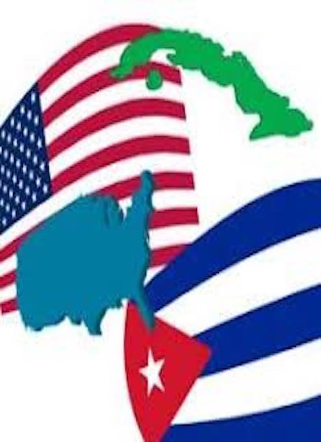 Banderas EE.UU. y Cuba