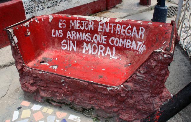 Un banco en el Callejón de Hamel, Centro Habana. (DIARIO DE CUBA)